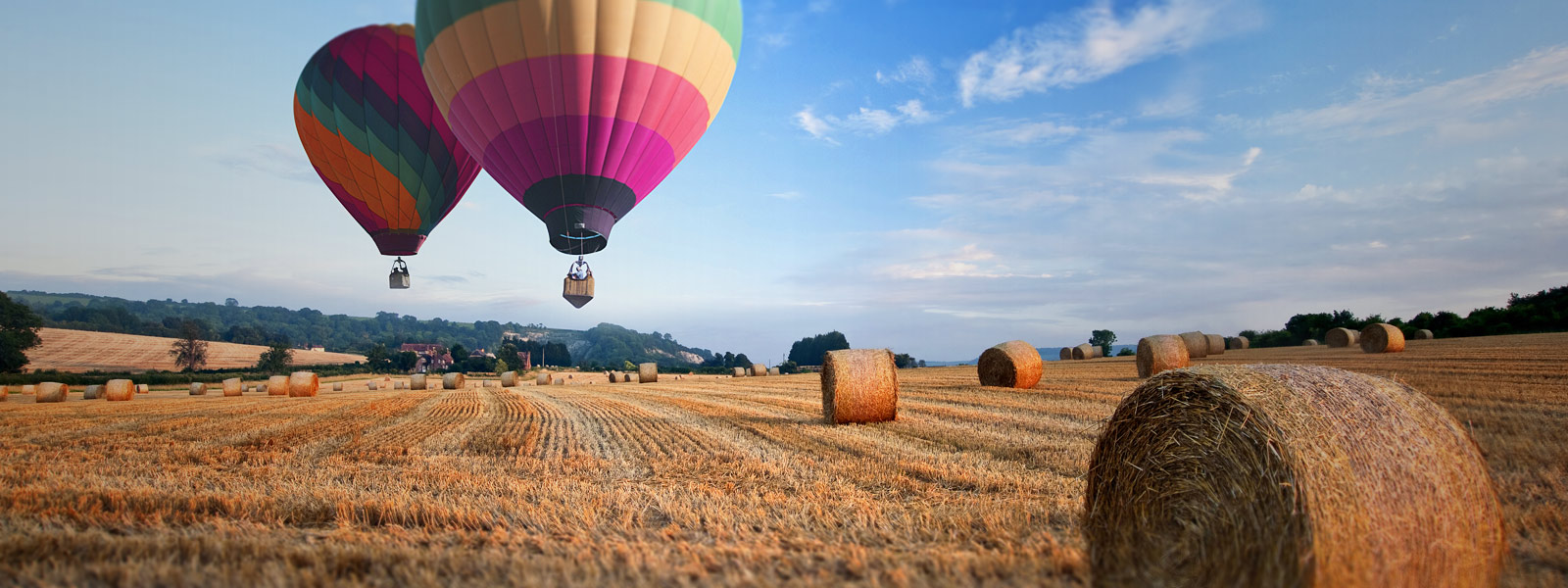 Hot air balloons flight