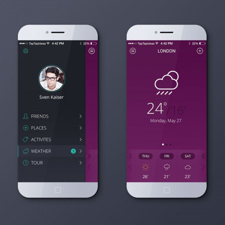 Mobile app – default color